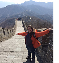 rachael dean at the great wall of china